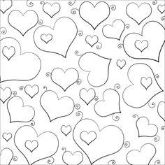 Lots of Hearts Coloring page