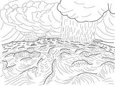Second Day of Creation Coloring page