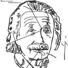 Einstein By Andy Warhol Coloring page