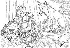 Birds and Fox from Henny Penny