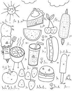 Craftsy Coloring Pages: BBQ