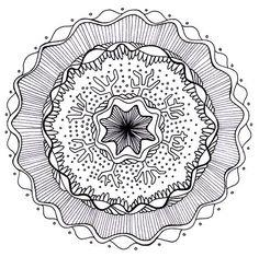 Free Mandala Adult Coloring Page to Print