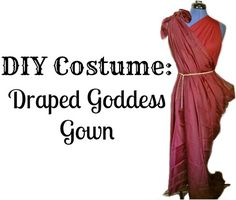 No-Sew Draped Goddess Gown