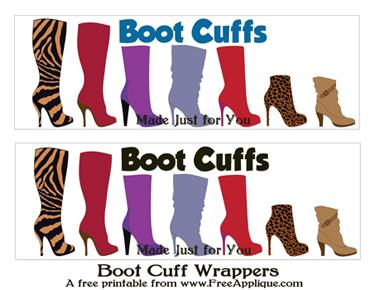 Boot Cuff Wrapper Printable Free