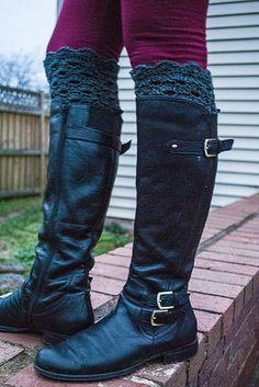 Arcade Lace Boot Cuffs