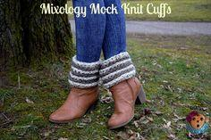 Mixology Mock Knit Boot Cuff