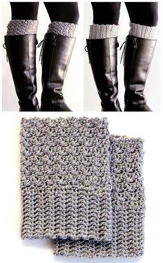 Easy Reversible Crochet Boot Cuffs
