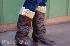 Lacy Button Boot Cuffs