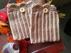 Scalloped Boot Cuffs Pattern