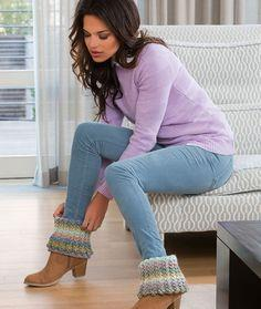 Warm Ribbed Boot Cuffs
