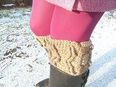 Cabled Boot Cuffs