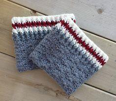 Grey Sock Boot Cuffs