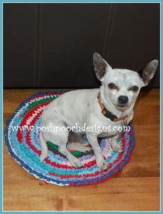 Round Dog Mat Crochet Pattern