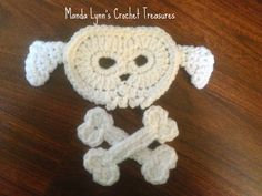 Puppy Skull n Bones Applique