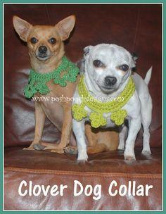 Clover Dog Collar Crochet Pattern