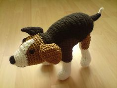 Crocheted beagle