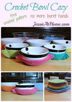 Crochet Bowl Cozy free crochet pattern