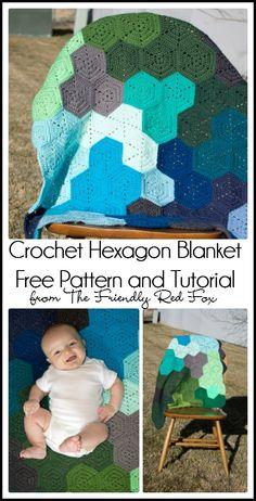Crochet Hexagon Blanket Pattern