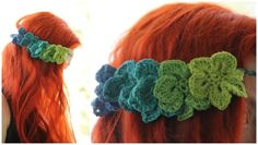 Make an ombre floral headband