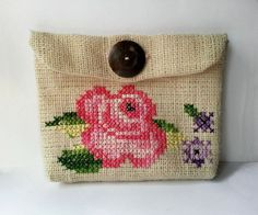 Vintage Inspired Cross-Stitch Purse