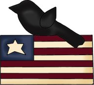 crow and flag clip art