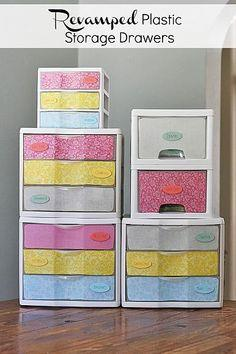 Revamped Plastic Storage Drawers