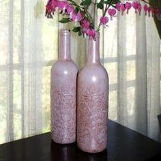 Decoupage Wine Bottles