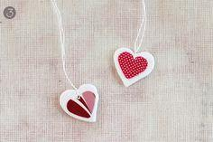 Decoupage Heart Necklace