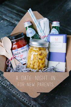 At Home Date Night Gift Basket