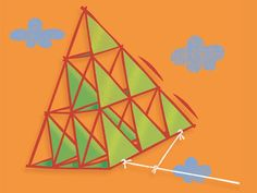 Build a tetrahedral kite