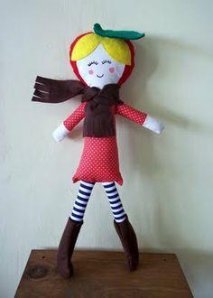 Cathy Applehead Handmade Doll
