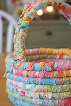 Fabric Easter basket Tutorial