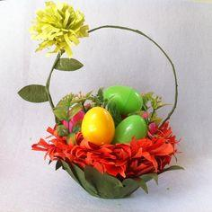 Recycled Plastic Bowl Easter Basket