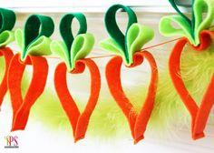 Easy Felt Carrot Garland Easter Craft