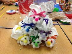 Washcloth Easter Bunnies!