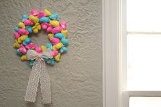 Peep Easter Wreath Tutorial