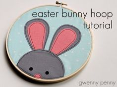 Easter Bunny Embroidery Hoop