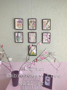 embroidery tree wall art