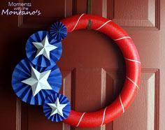 Moments with the Montano's: 4th of July Wreath