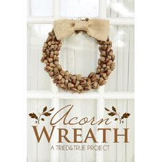 Fall Wreaths with Acorns