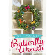 Spring Butterfly Wreath DIY