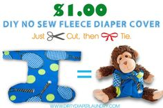 No-Sew Fleece Diaper Cover