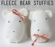 fleece bear stuffie pattern
