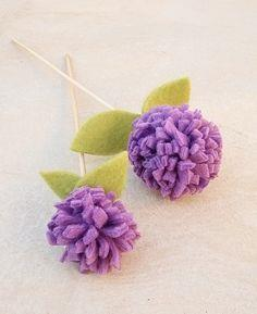 No Sew PomPom Flowers