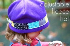 Adjustable Fleece Hat Tutorial
