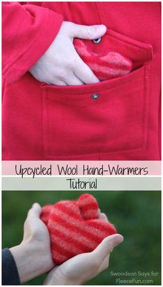 make heart hand warmers