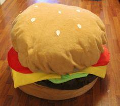 Hamburger Bean Bag