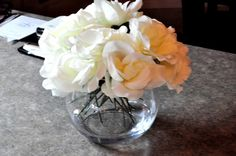 Artificial Flower Arrangements with Water