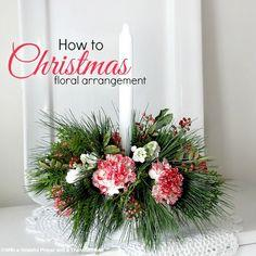 Make a Floral Christmas Centerpiece