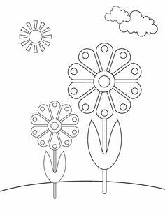 Flowers Printable Coloring Pages